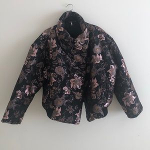 Free People floral puffer